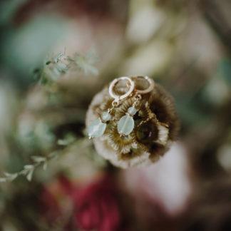 boucles mini creoles aventurine pierre de lune rose
